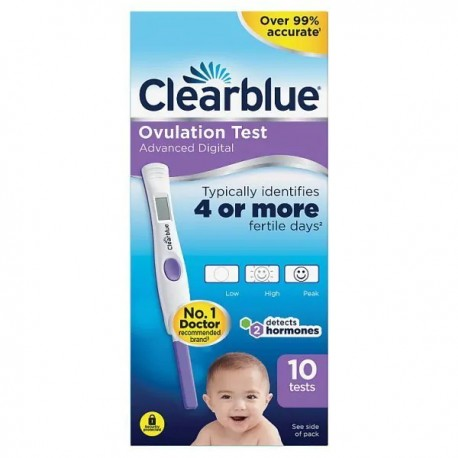 Clearblue Digital ADVANCED Ovulacijski test (10kom)